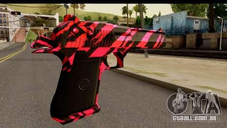 Red Tiger Desert Eagle para GTA San Andreas segunda tela