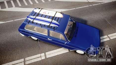 Volkswagen 1600 Variant 1973 para GTA 4 vista direita