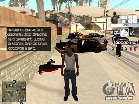 C-HUD 3D para GTA San Andreas terceira tela