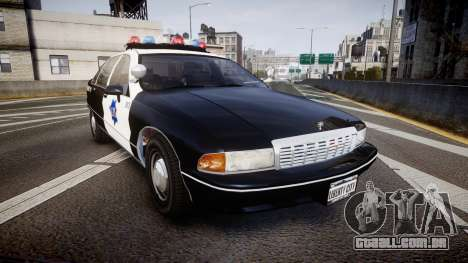 Chevrolet Caprice 1990 LCPD [ELS] Traffic para GTA 4