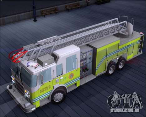 Pierce Arrow XT Miami Dade FD Ladder 22 para GTA San Andreas vista traseira