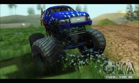 Monster The Liberator (GTA V) para GTA San Andreas traseira esquerda vista