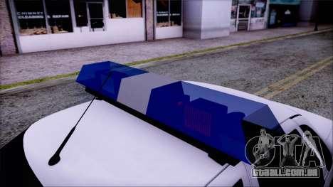 Lada Priora 2170 polícia da MIA da Rússia para GTA San Andreas vista direita