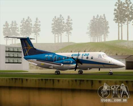 Embraer EMB 120 Brasilia Embraer Livery para GTA San Andreas esquerda vista