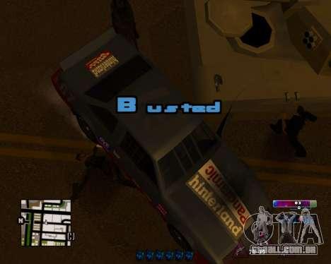 Space C-HUD v2.0 para GTA San Andreas segunda tela