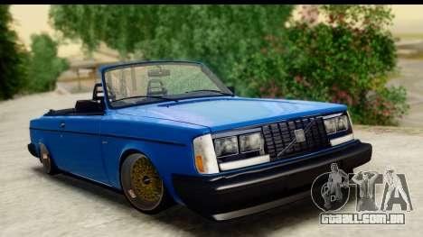 Volvo 242 Cabrio para GTA San Andreas
