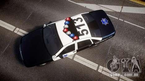 Chevrolet Caprice 1990 LCPD [ELS] Traffic para GTA 4 vista direita
