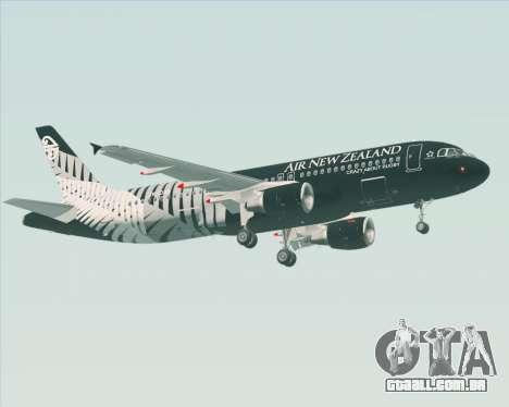 Airbus A320-200 Air New Zealand para GTA San Andreas vista inferior