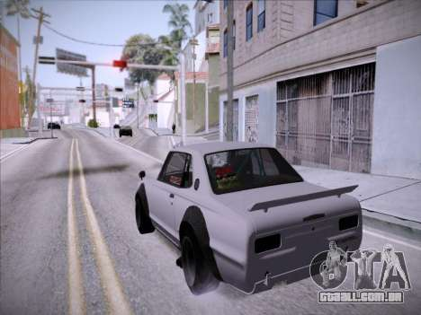 Nissan Skyline 2000 GT-R Drift Edition para GTA San Andreas vista traseira