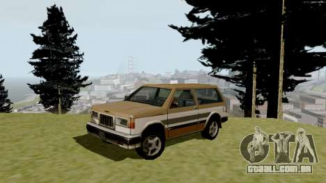 Transporte novo e compra para GTA San Andreas oitavo tela