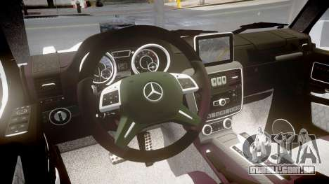 Mercedes-Benz G65 Brabus rims2 para GTA 4 vista interior