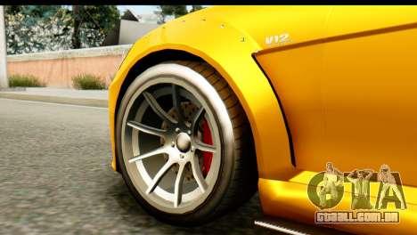 GTA 5 Benefactor Schwartzer SA Mobile para GTA San Andreas traseira esquerda vista