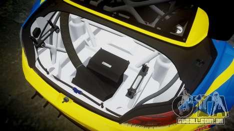 BMW Z4 GT3 2012 Northwest para GTA 4 vista lateral