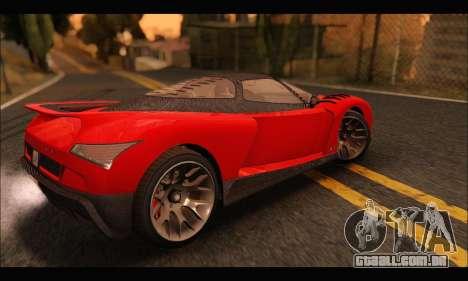 Grotti Cheetah v3 (GTA V) para GTA San Andreas traseira esquerda vista