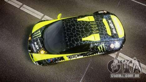 Bugatti Veyron Super Sport 2011 [EPM] Ken Block para GTA 4 vista direita