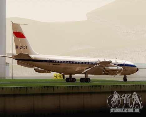 Boeing 707-300 CAAC para GTA San Andreas vista direita