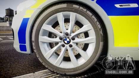 BMW 525d F11 2014 Metropolitan Police [ELS] para GTA 4 vista de volta