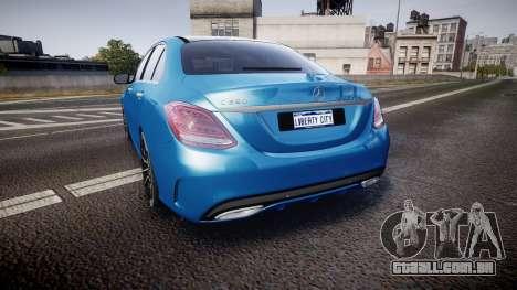 Mercedes-Benz C250 AMG (W205) 2015 para GTA 4 traseira esquerda vista