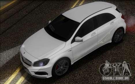Mercedes-Benz A45 AMG para GTA San Andreas vista traseira