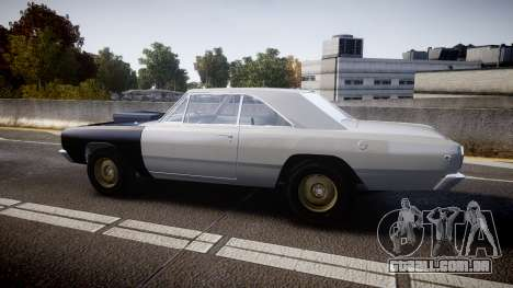 Dodge Dart HEMI Super Stock 1968 rims1 para GTA 4 esquerda vista
