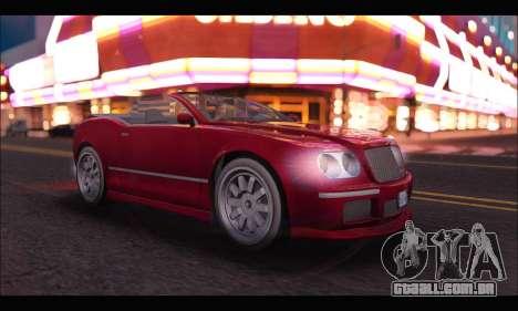 Enus Cognoscenti Cabrio (GTA V) para GTA San Andreas esquerda vista