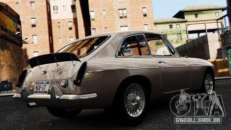 MGB GT 1965 para GTA 4 esquerda vista
