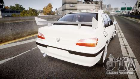 Peugeot 406 Taxi [Final] para GTA 4 traseira esquerda vista
