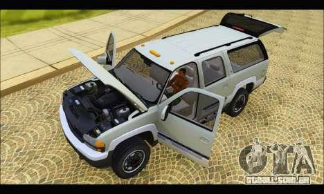 GMC Yukon XL 2003 v.2 para GTA San Andreas vista traseira