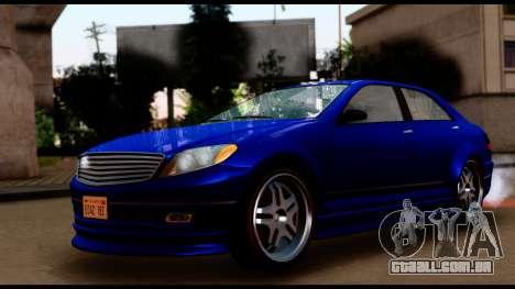 GTA 5 Schafter Bumper para GTA San Andreas traseira esquerda vista