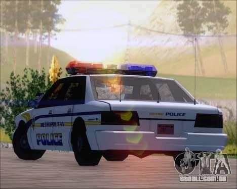 Police LS Metropolitan Police para GTA San Andreas vista interior