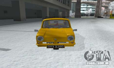 Reliant Supervan Only Fools and Horses para GTA San Andreas vista direita