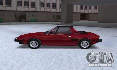 Fiat Bertone X1 9 para GTA San Andreas esquerda vista