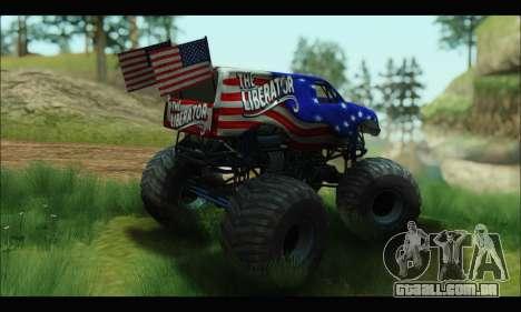Monster The Liberator (GTA V) para GTA San Andreas vista direita