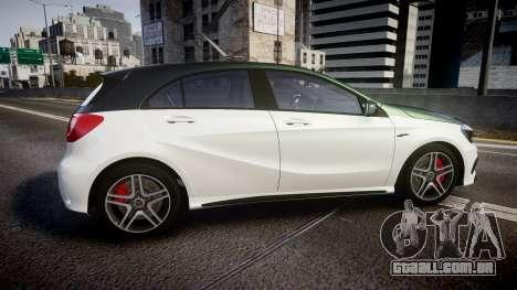 Mersedes-Benz A45 AMG PJs3 para GTA 4 esquerda vista