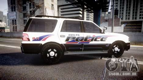 Ford Expedition 2010 Delta Police [ELS] para GTA 4 esquerda vista
