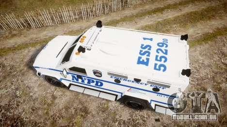 Lenco BearCat NYPD ESU [ELS] para GTA 4 vista direita
