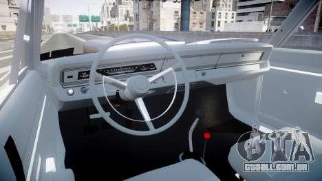 Dodge Dart HEMI Super Stock 1968 rims4 para GTA 4 vista de volta