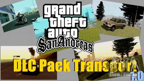 Transporte novo e compra para GTA San Andreas