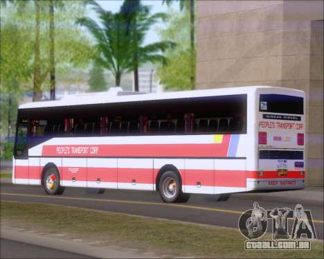 Nissan Diesel UD Peoples Transport Corporation para GTA San Andreas vista traseira