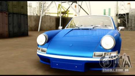 Porsche 911 Carrera 2.7RS Coupe 1973 Tunable para GTA San Andreas vista inferior