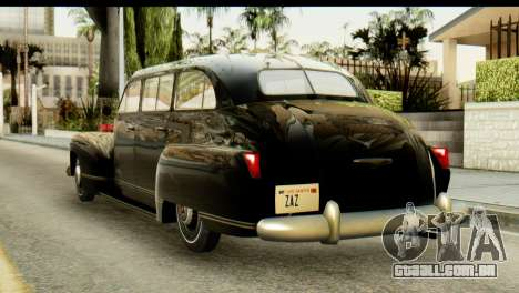 Lassiter Series 75 Hollywood para GTA San Andreas esquerda vista
