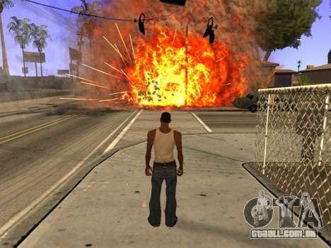 New Realistic Effects 4.0 Full Final Version para GTA San Andreas por diante tela