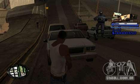 C-HUD SAPD para GTA San Andreas terceira tela