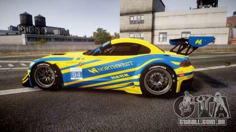 BMW Z4 GT3 2012 Northwest para GTA 4 esquerda vista