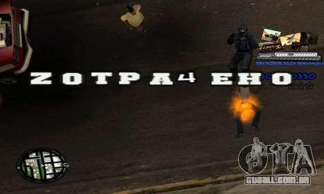 C-HUD SAPD para GTA San Andreas por diante tela