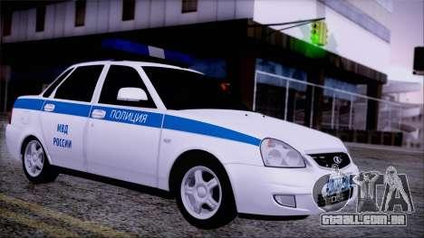Lada Priora 2170 polícia da MIA da Rússia para GTA San Andreas