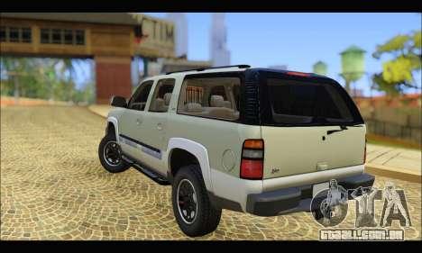 GMC Yukon XL 2003 v.2 para GTA San Andreas traseira esquerda vista