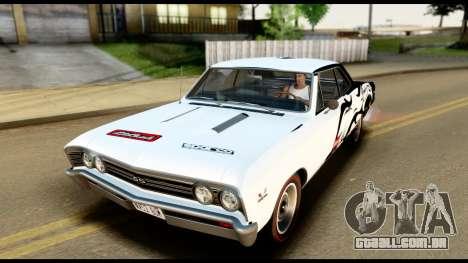 Chevrolet Chevelle SS 396 L78 Hardtop Coupe 1967 para o motor de GTA San Andreas