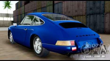 Porsche 911 Carrera 2.7RS Coupe 1973 Tunable para GTA San Andreas traseira esquerda vista