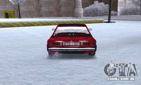 Fiat Bertone X1 9 para GTA San Andreas vista direita